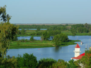 San Pedro con vista al Paraná